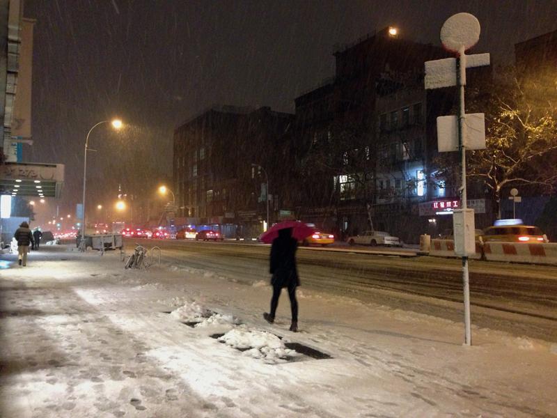 Snowstorm Athena NYC 2012
