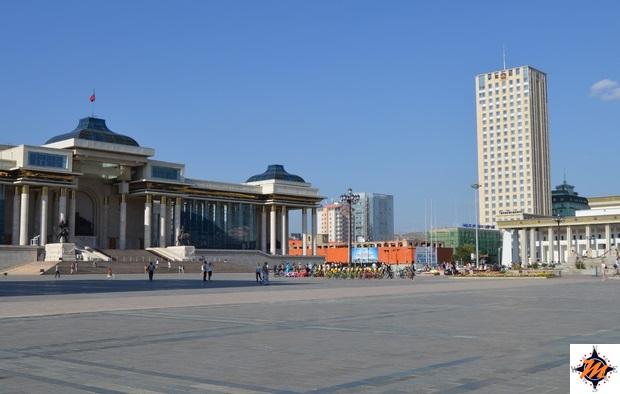 Ulan Bator, piazza Chinggis Khan