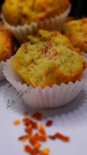 Muffins, brócolis, longaniza