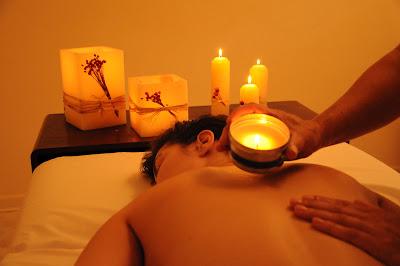 A massagem das velas