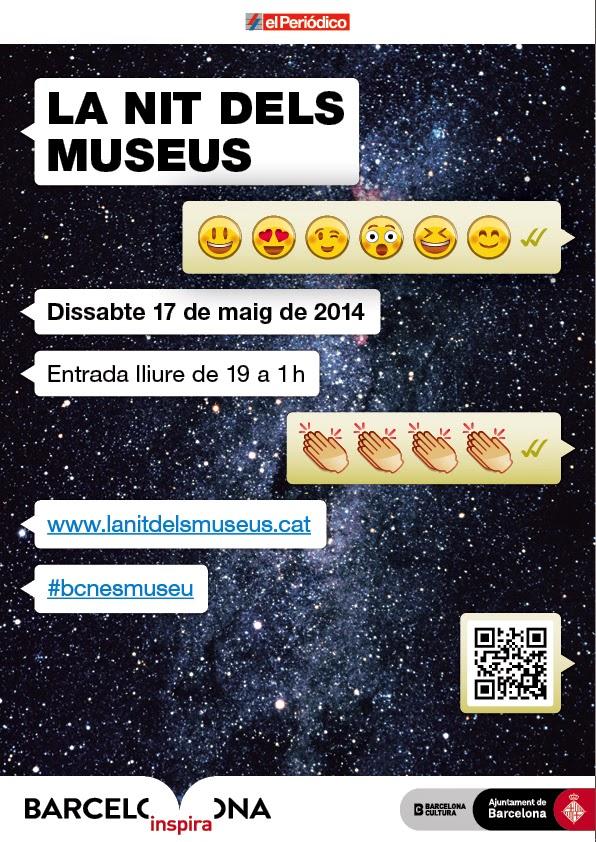 Cartel de la Nit dels Museus 2014