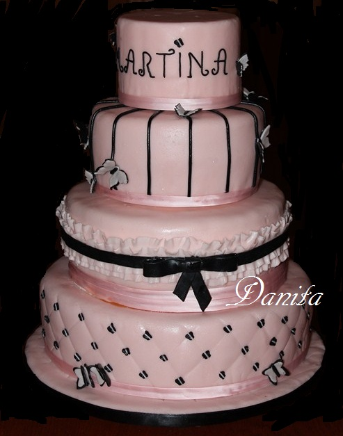 Ben noto Le leccornie di Danita: La torta a 4 piani fashion QX23