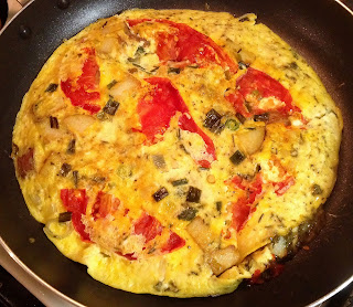 Onion Potato & Tomato Frittata