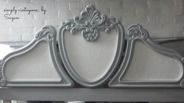 before, after, headboard, french provincial, painted, annie sloan, paris grey, pure white