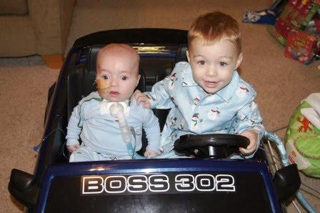 Boys in Bradie's Car