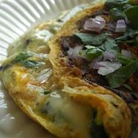 Omelette aux champignons Bleu
