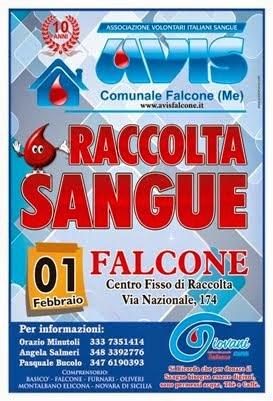 """Domenica 01 FEBBRAIO 2015 dalle ore 8.00 alle ore 12.00 """"CENTRO FISSO DI RACCOLTA - FALCONE"""