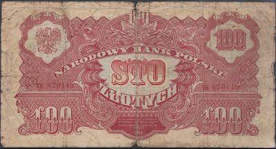 Polonia 100 Zlotych 1944 P# 117