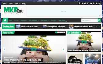 MKRflat Responsive Magazine/News Blogger Template