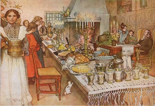 Christmas Eve in Sweden.  Carl Larsson (1904)