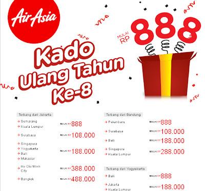 tiket promo murah akhir tahun 2012 dari AirAsia