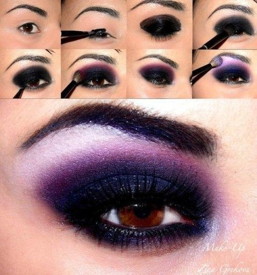 Purple Smokey Eyes | Smokey Eye Night Out Makeup Tutorials