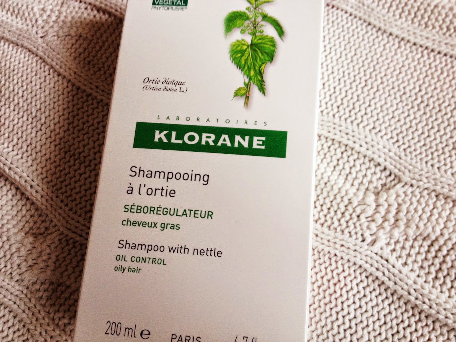 KLORANE Nettle Shampoo, beauty blog, shampoo for oily hair, KLORANE shampoo, eco friendly shampoo