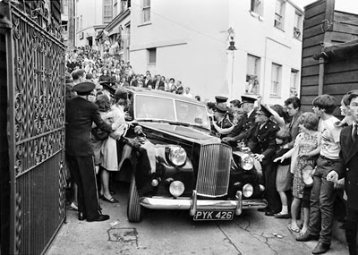 1964 The Beatles arrive at The Futurist Theatre in Scarborough