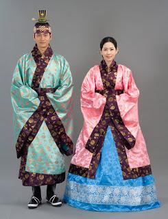 pakaian adat perkawinan korea