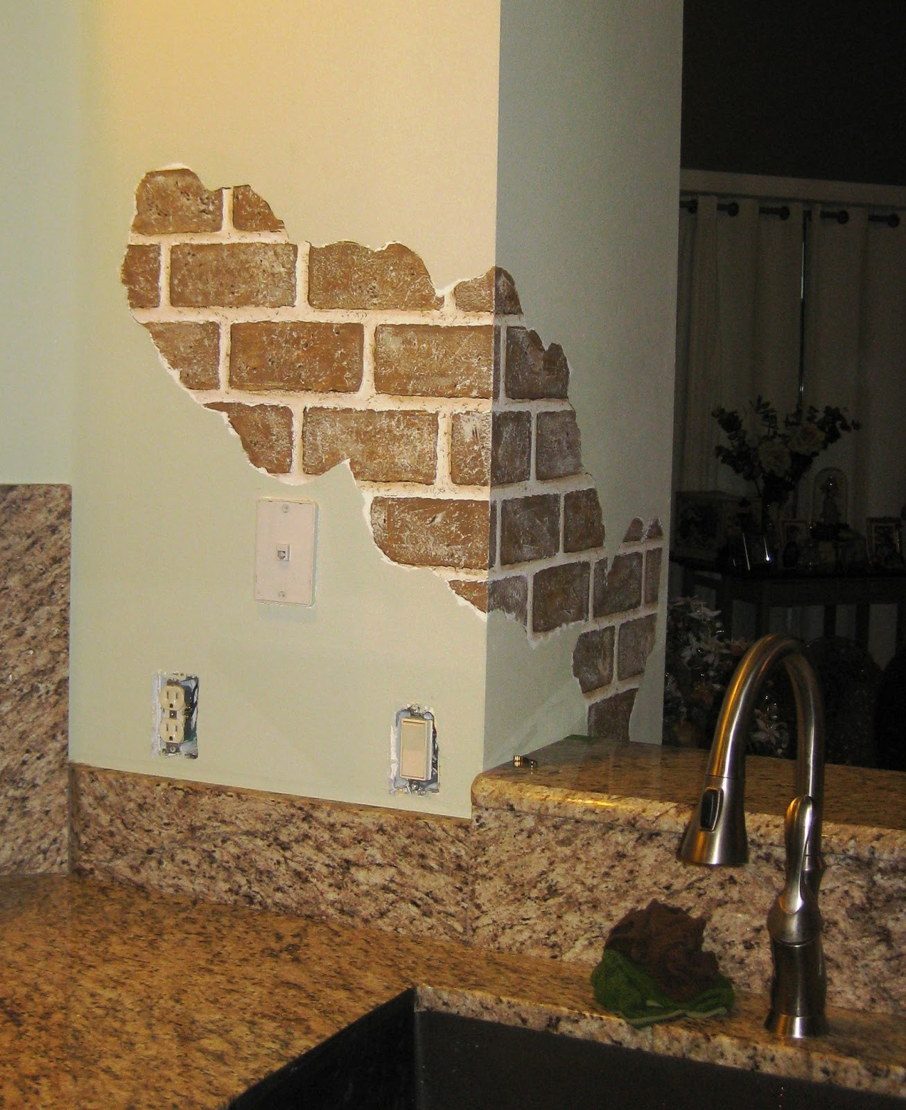 Array of color inc painted faux bricks for Bricks painting design