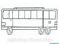 Mewarnai mobil bis sekolah