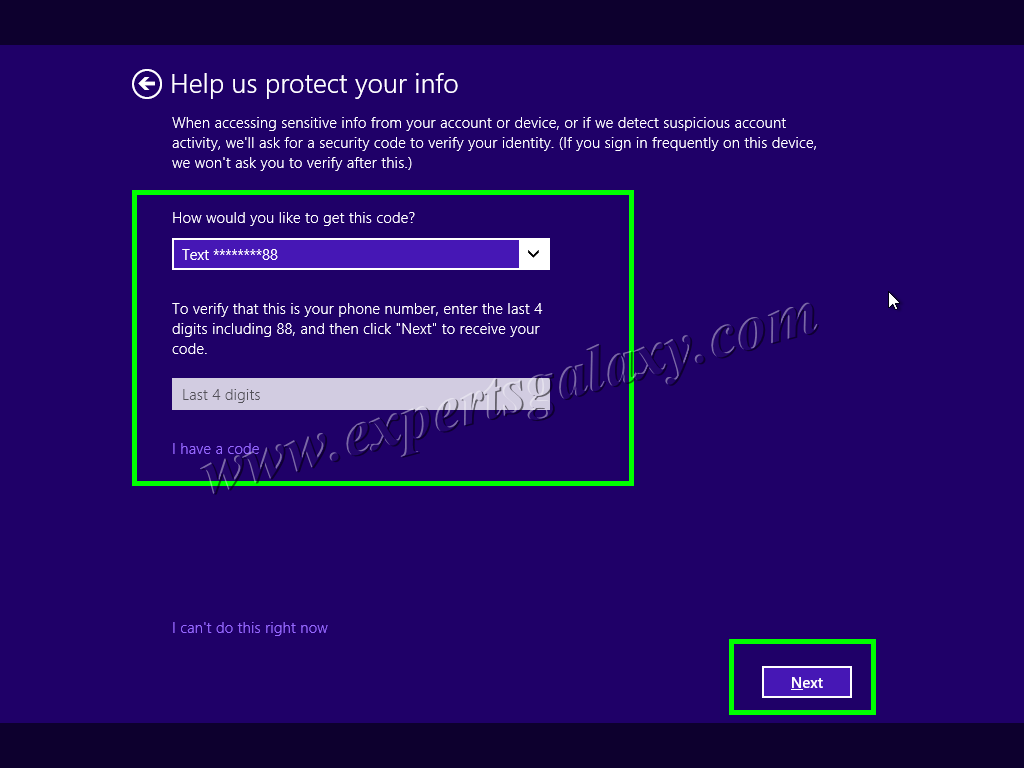 Windows 10 Verify Identity Screen