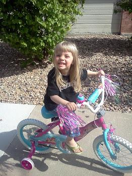 Loves her new bike