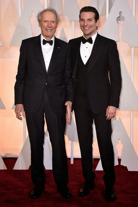 Bradley Cooper y Clint Eastwood en los Oscar 2015