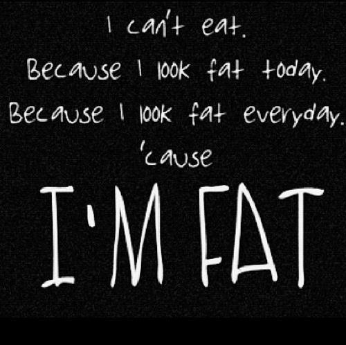ich bin zu fett