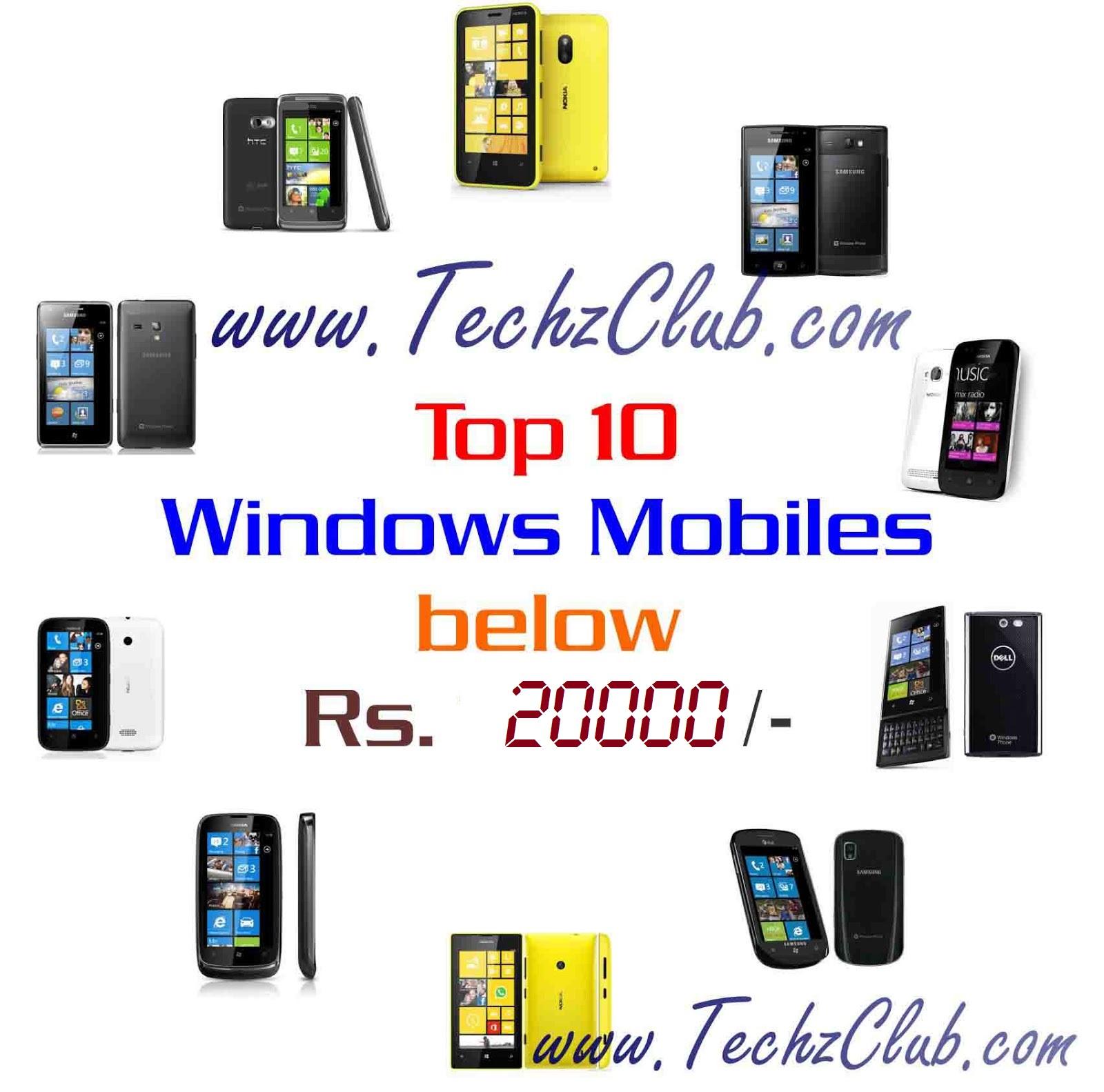 Top 10 Windows Phones Below Rs 20000