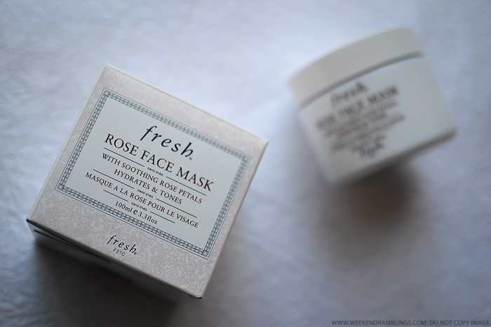 Fresh Rose Face Mask Review - Hydrating Toning Summer Oily Skincare Mask
