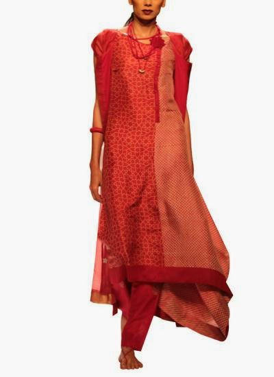 Red floral pattered dress | Indian Designers | Indian Designer Bag