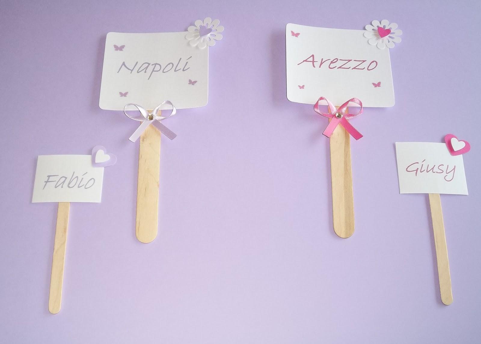Matrimonio Tema Fucsia : Sara crea set segnatavoli e segnaposto per matrimonio ed