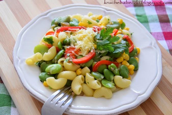 Lekko i szybko czyli makaron bób i warzywa