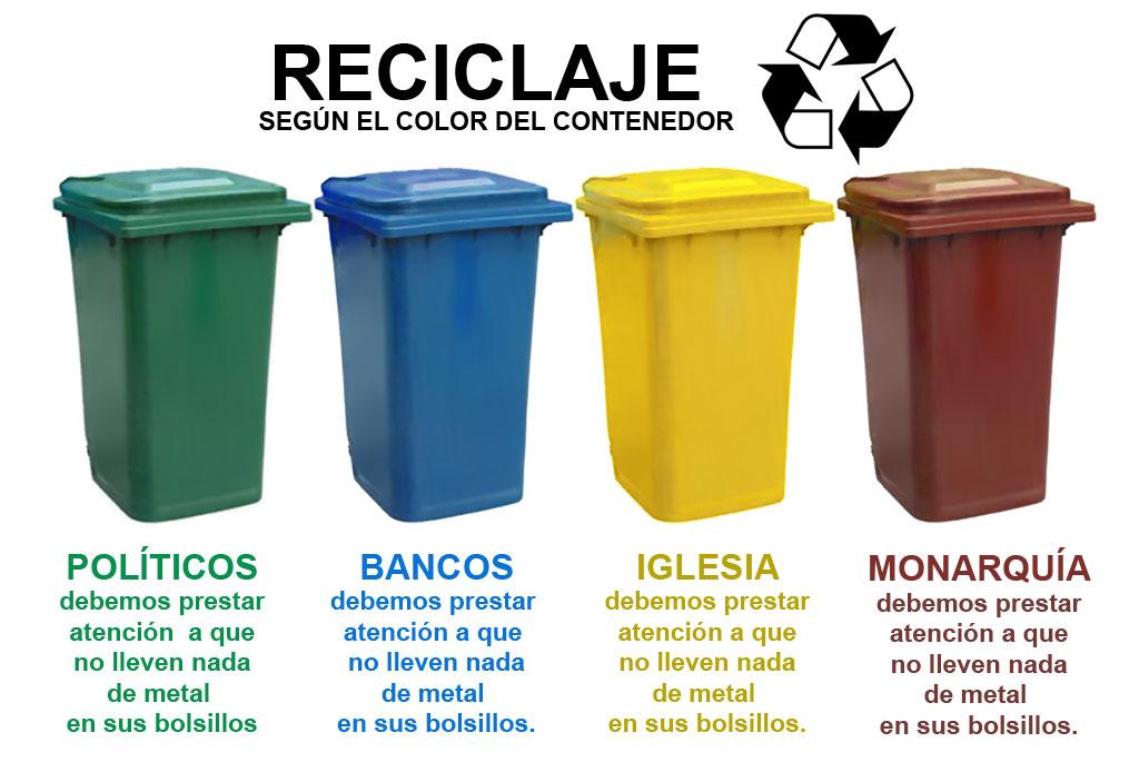 Dani caxete paranoias nocturnas reciclar la basura seg n - Colores para reciclar ...