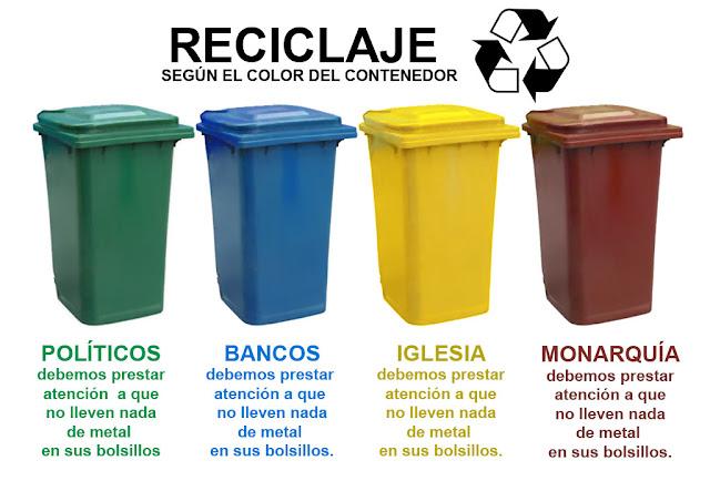 Paranoias nocturnas: reciclar la basura según el color del contenedor