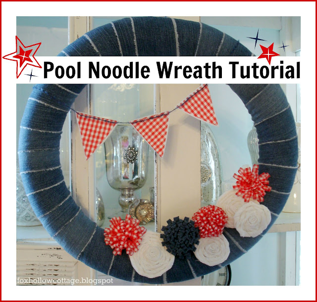 Denim+wreath+tutorial+pool+noddle+base Its a noodle party!