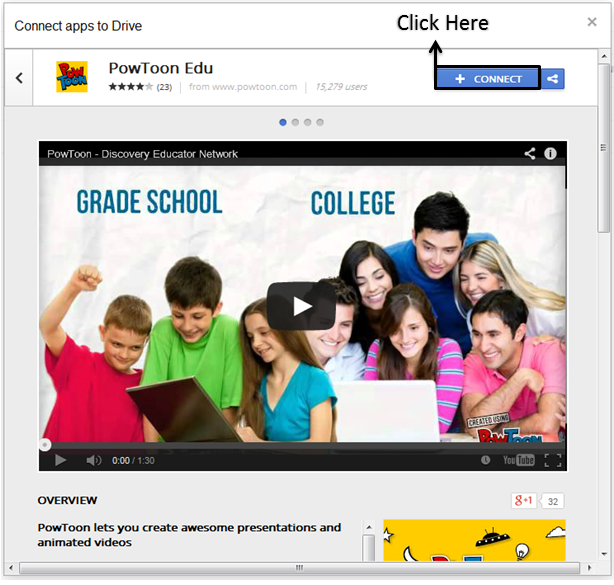connecting google drive educational apps