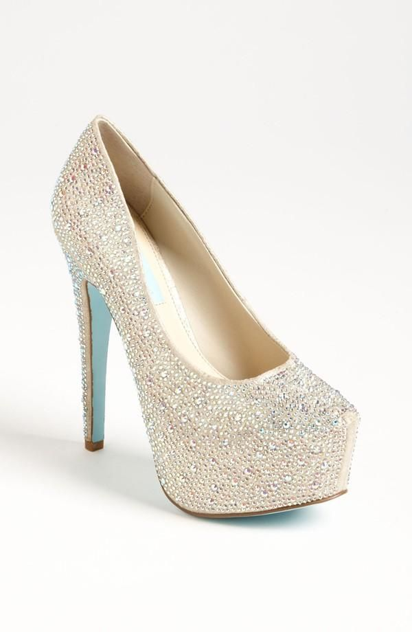 Prom pumps with bling