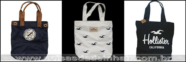 bolsa tote sacola ecobag abercrombie hollister