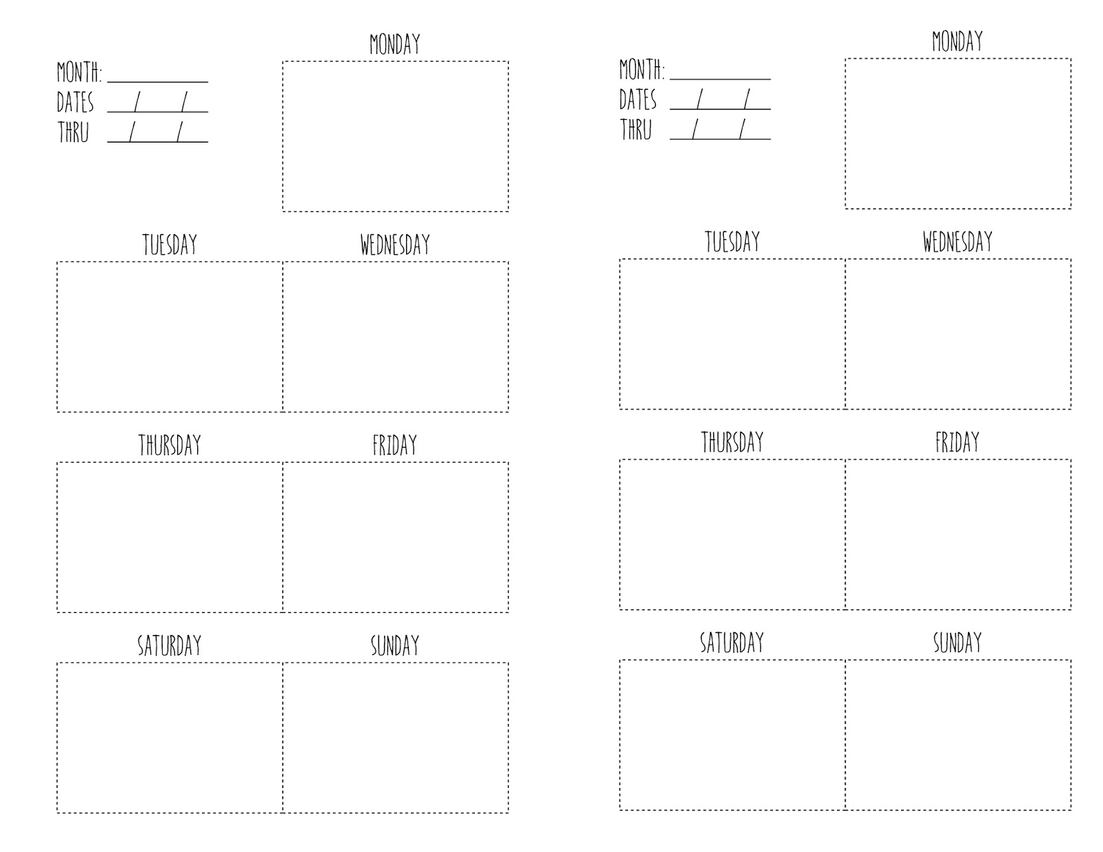 Diy Calendar Template : We can make anything diy weekly planner free template