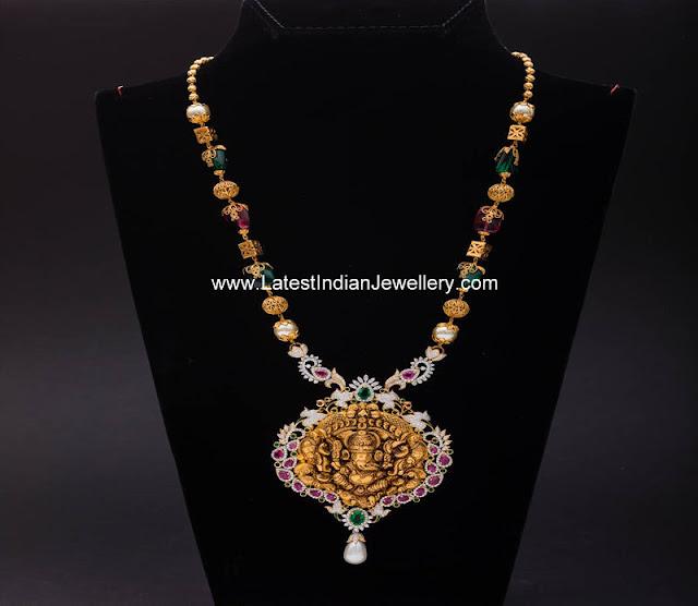 Diamond Ganesh Gold Haram