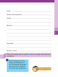 Apoyo Primaria Español 2do grado Bloque 3 lección 18 ¿Qué decía la carta?