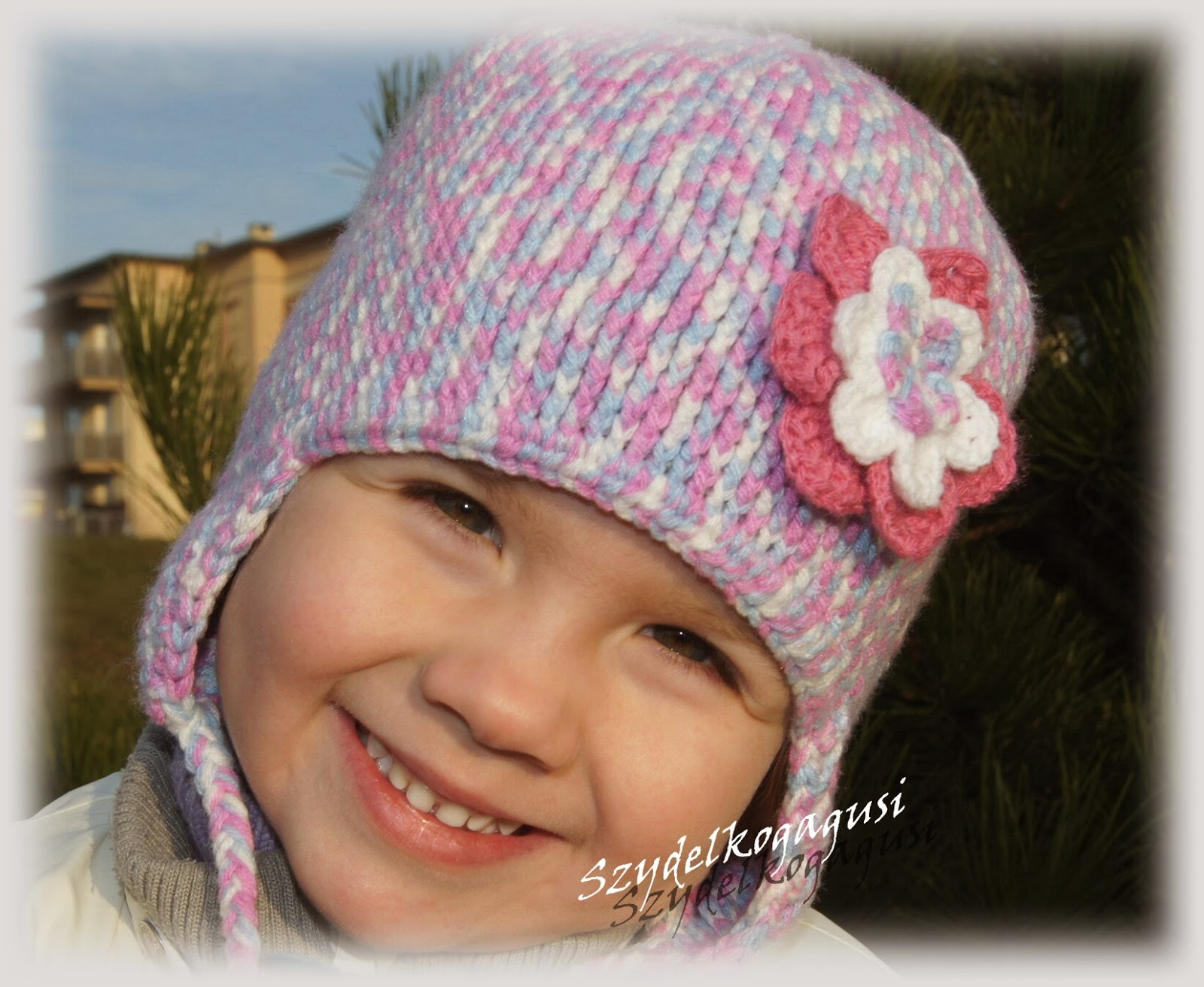 zimowa czapka na szydełku