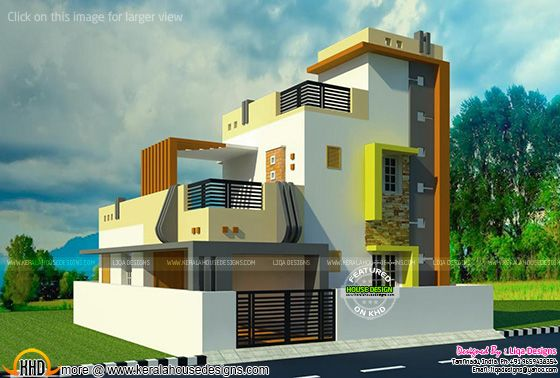 Tamilnadu contemporary home