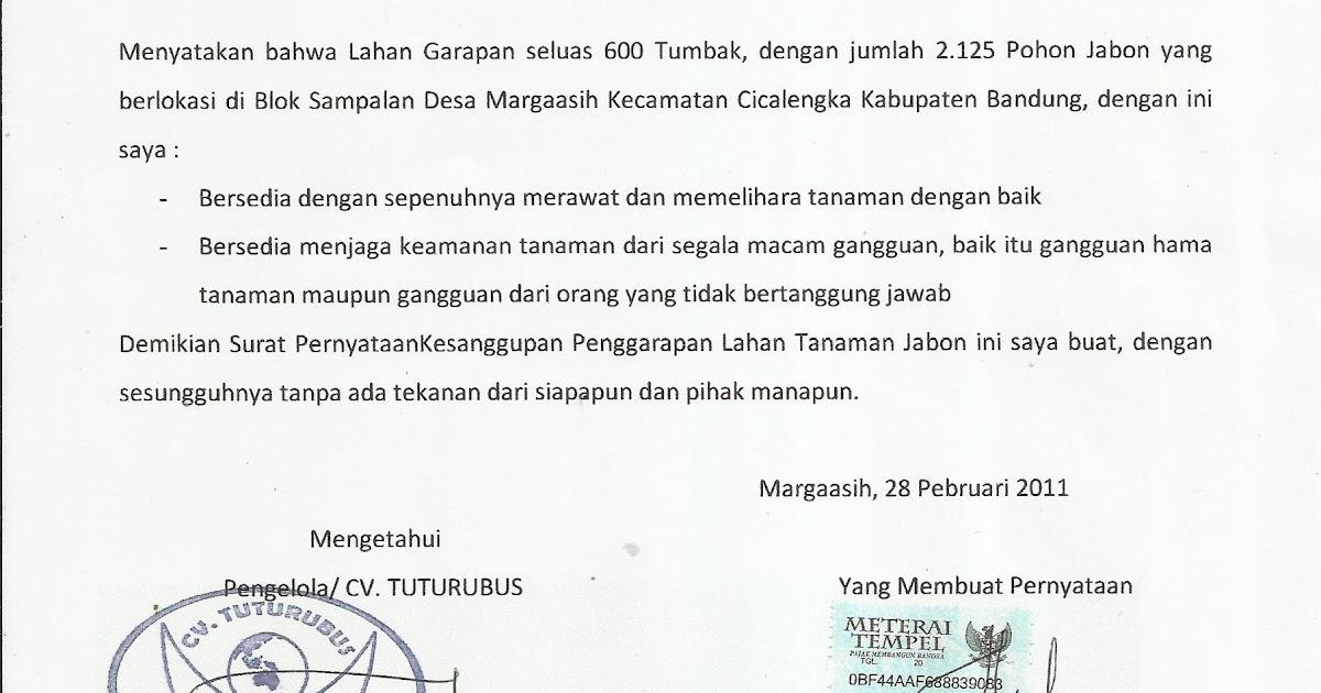 gerakan nusantara hijau contoh surat pernyataan