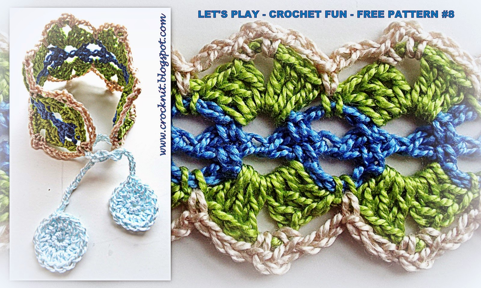 Crochet Stitch Rtrf : MICROCKNIT CREATIONS: LETS PLAY - CROCHET FUN - FREE PATTERN #8