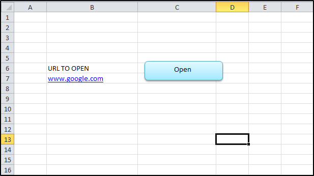 Open URL in Excel Using Marcro