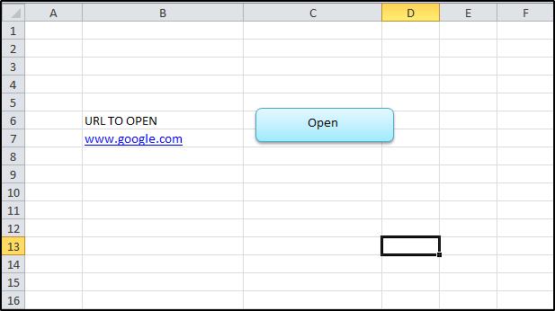 Open URL in Excel Using Marcro