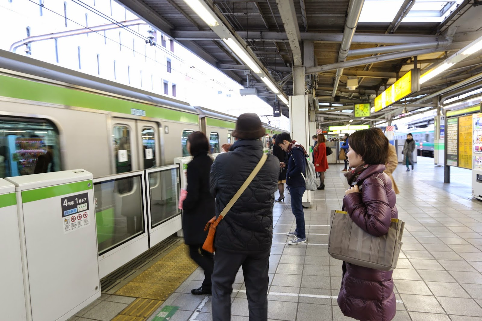 Queuing in a line and turning your mobile into silent mode before getting onto a train or a subway is the basic rules of train etiquette (manners) in Japan