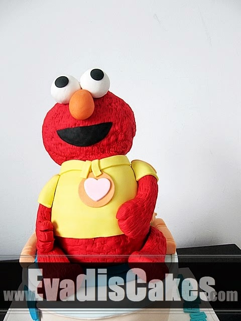Picture of sculpture Elmo on potty