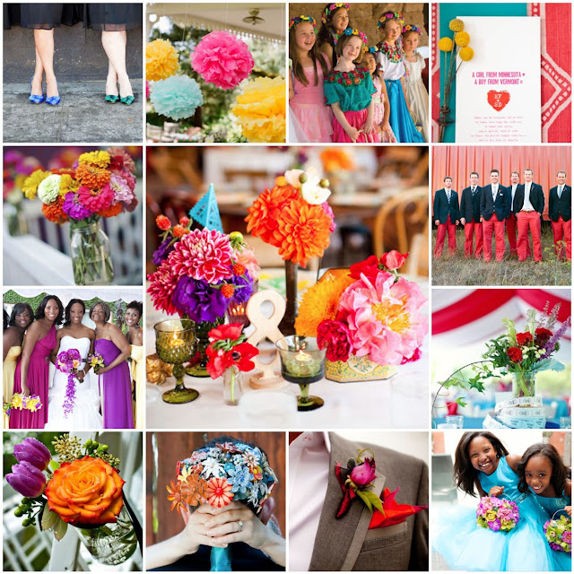 bright colored wedding