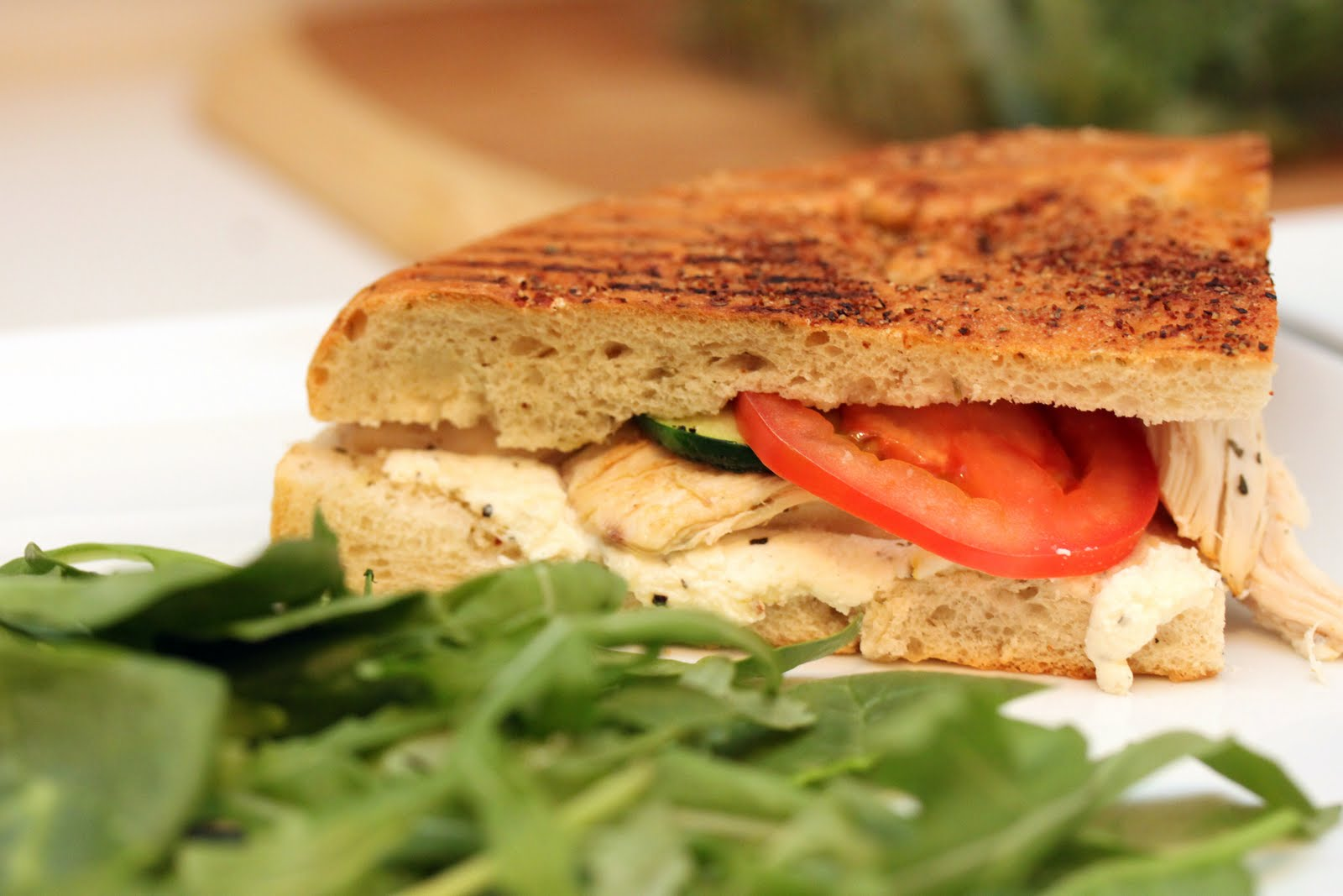 Chicken, Zucchini, And Ricotta Sandwich Recipe — Dishmaps