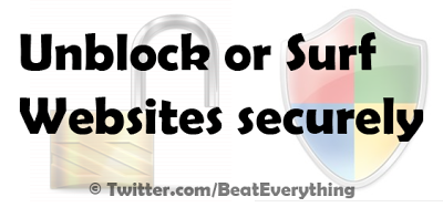 Unblock YouTube and surf securely.